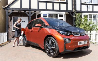 BMW i3 Charging at a home