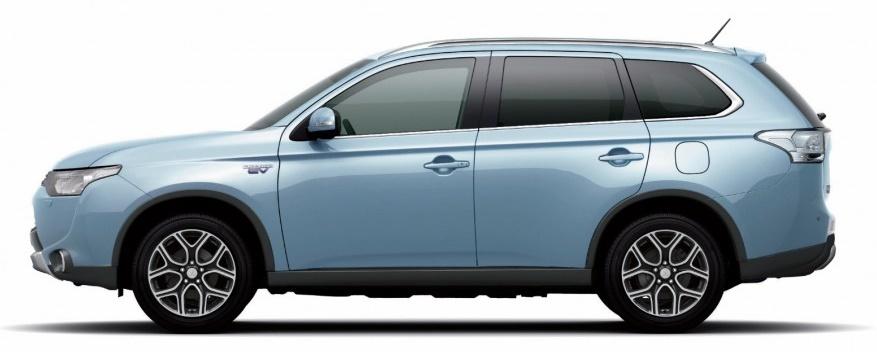 Mitsubishi-Outlander-SUV Side View of vehicle