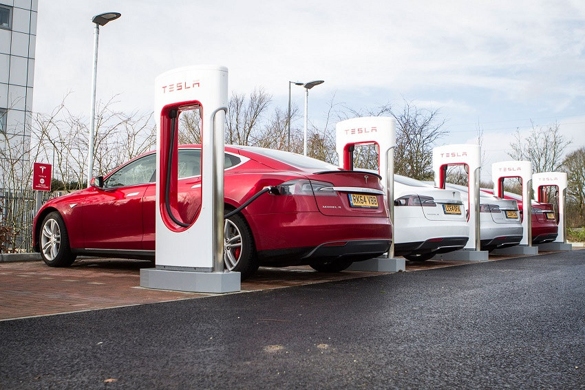 tesla sales and supercharger network