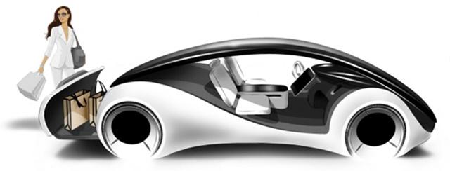 apple electric car design side of vehicle