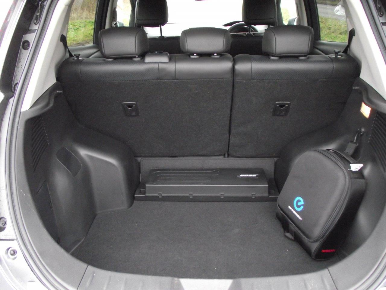 Boot size for a nissan leaf