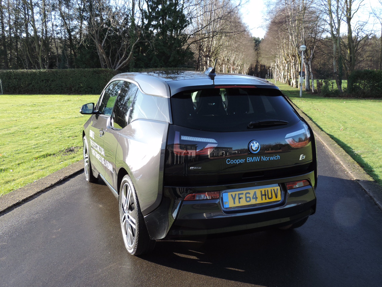 BMW i3 Road Test Car Rear View