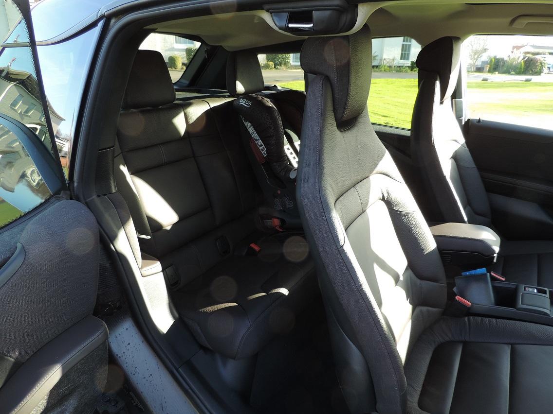 Car seat in a BMW i3