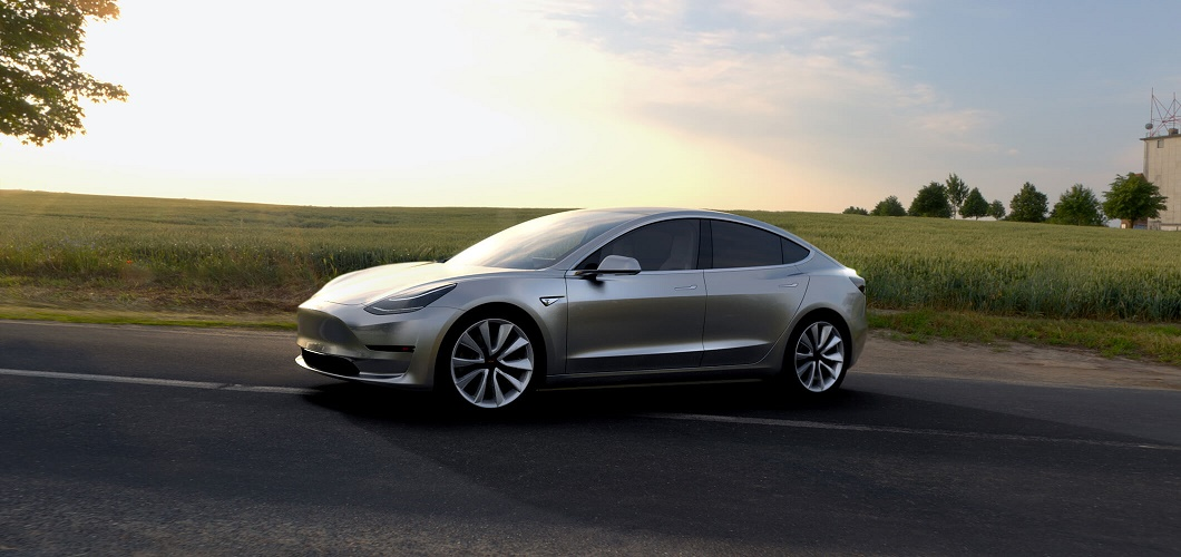 model 3 on the road