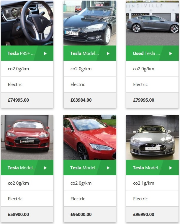 Used Tesla model S UK- electric cars for sale
