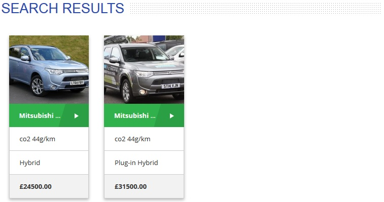 Used Mitsubishi Outlander PHEV Vehicle Search for sale adverts