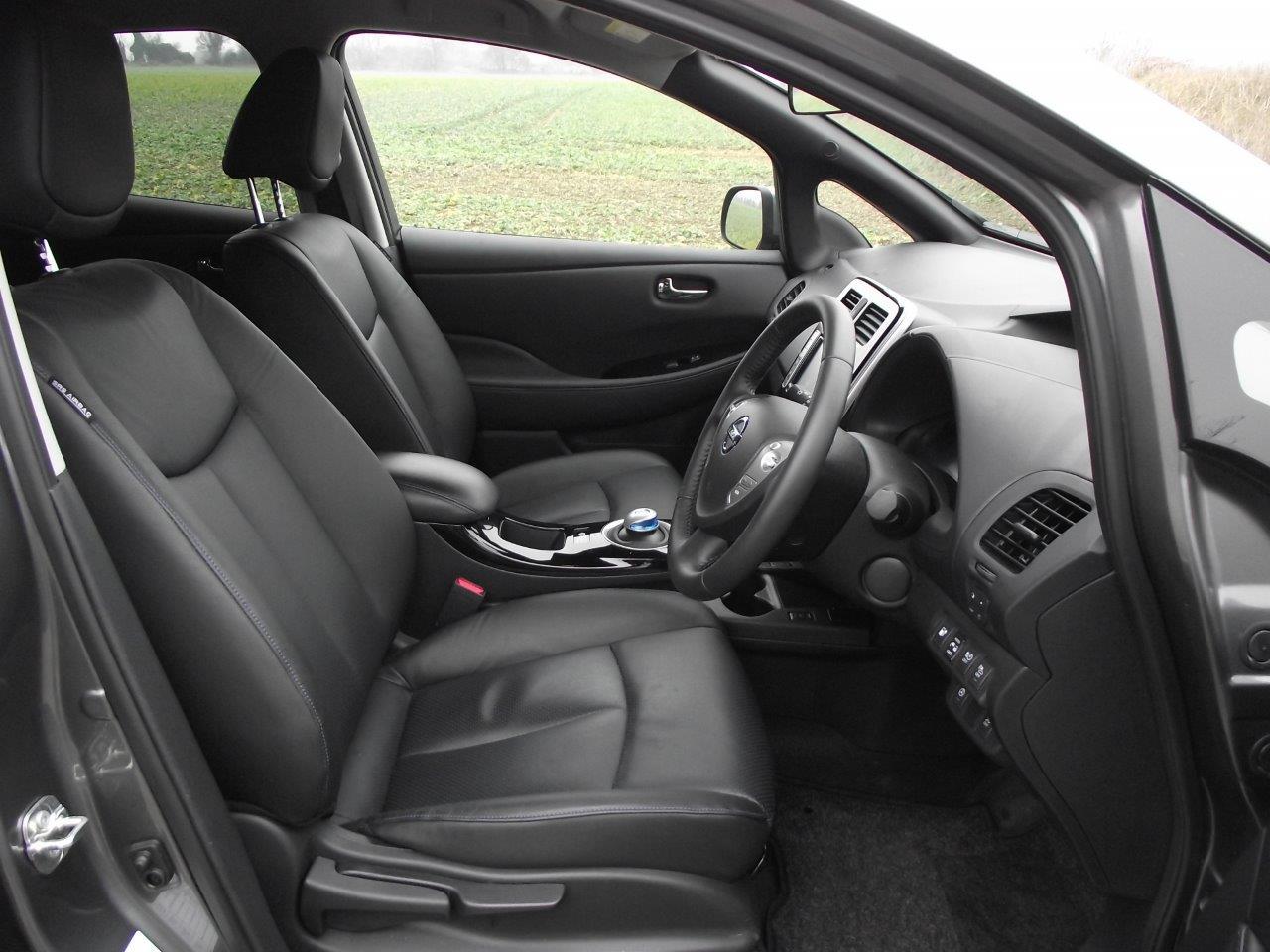 Nissan Leaf drivers seat