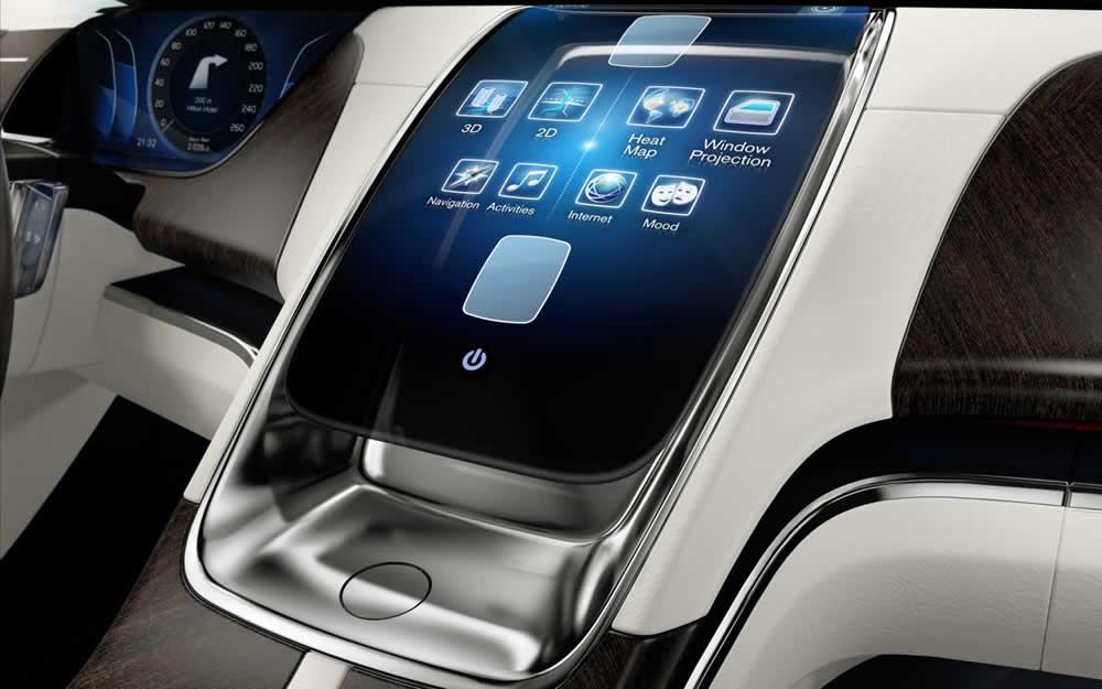 Apple iCar concept dash
